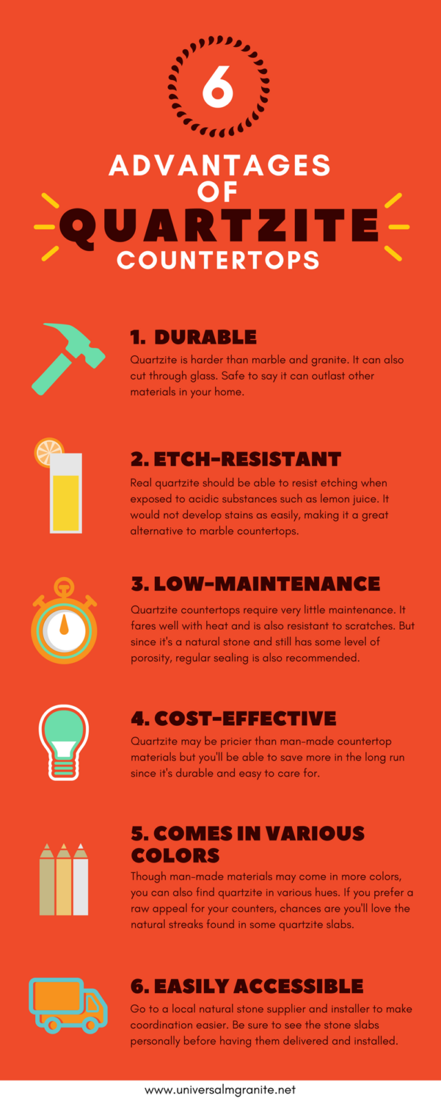 Infographic 6 Advantages Of Quartzite As A Surfacing